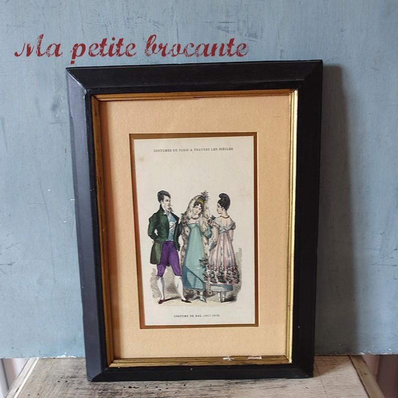 Gravure costumes de Paris à travers les siècles