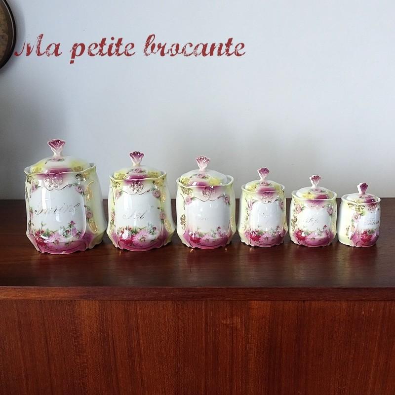 Pots à épices Art nouveau