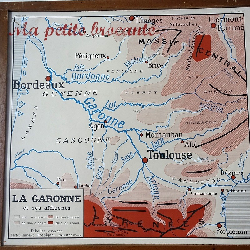 Carte scolaire Garonne ou Rhone